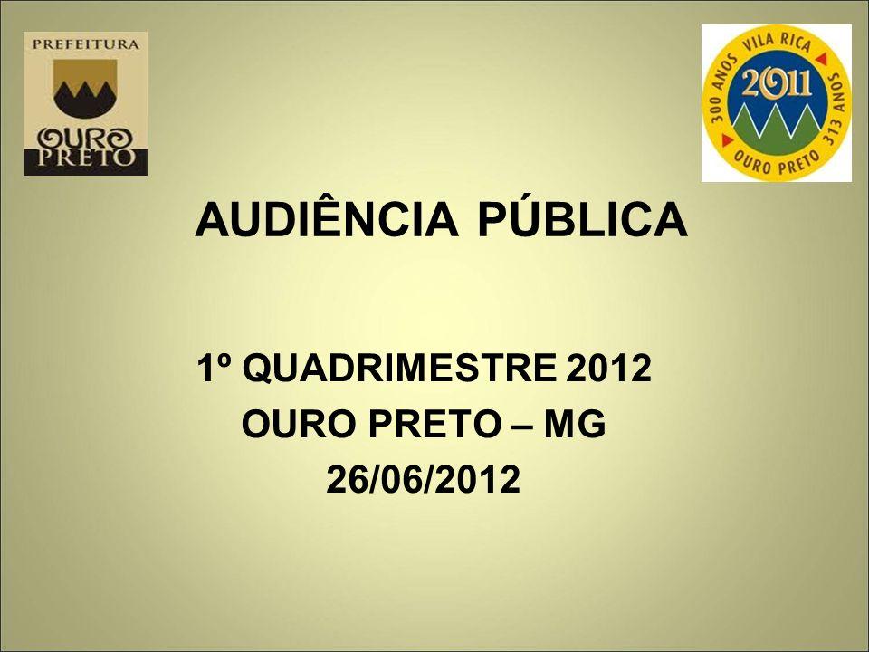 AUDIÊNCIA PÚBLICA 1º QUADRIMESTRE 2012 OURO PRETO – MG 26/06/2012