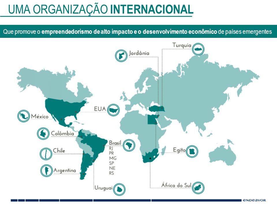 UMA ORGANIZAÇÃO INTERNACIONAL Que promove o empreendedorismo de alto impacto e o desenvolvimento econômico de países emergentes