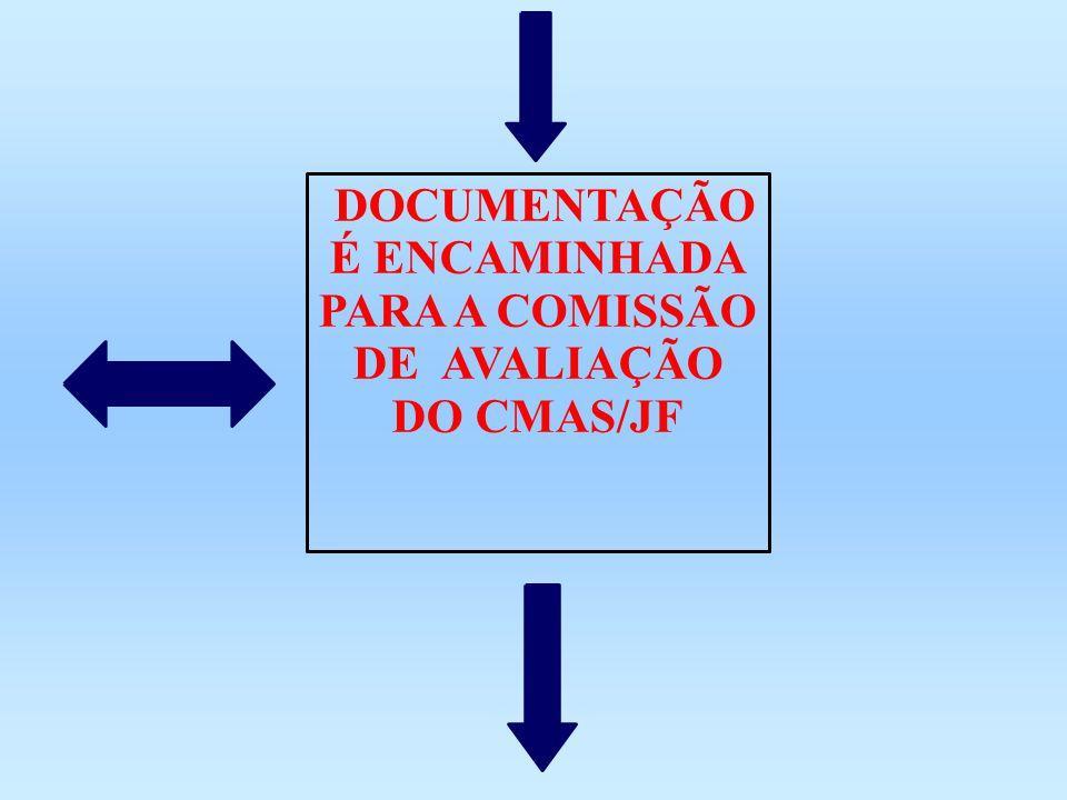 DOCUMENTAÇÃO É ENCAMINHADA PARA A COMISSÃO DE AVALIAÇÃO DO CMAS/JF