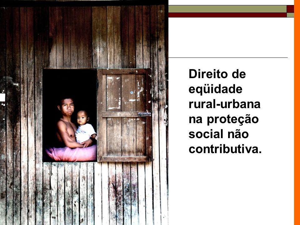 Direito de eqüidade rural-urbana na proteção social não contributiva.
