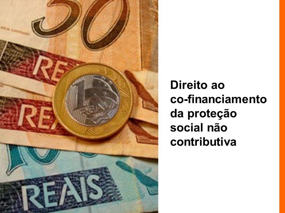 Direito ao co-financiamento da proteção social não contributiva