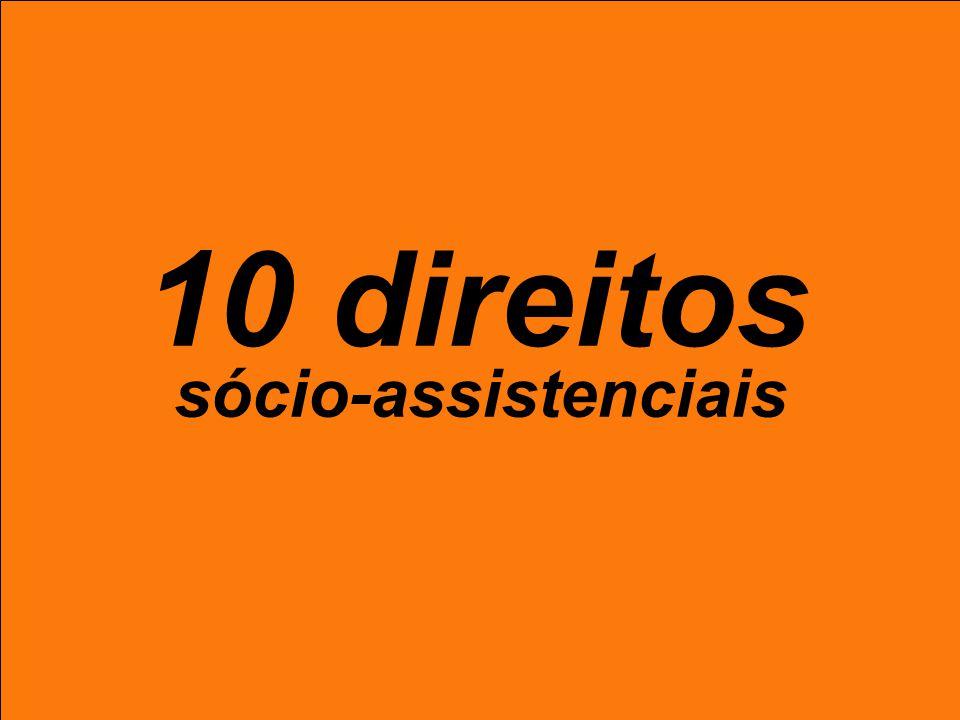 10 direitos sócio-assistenciais