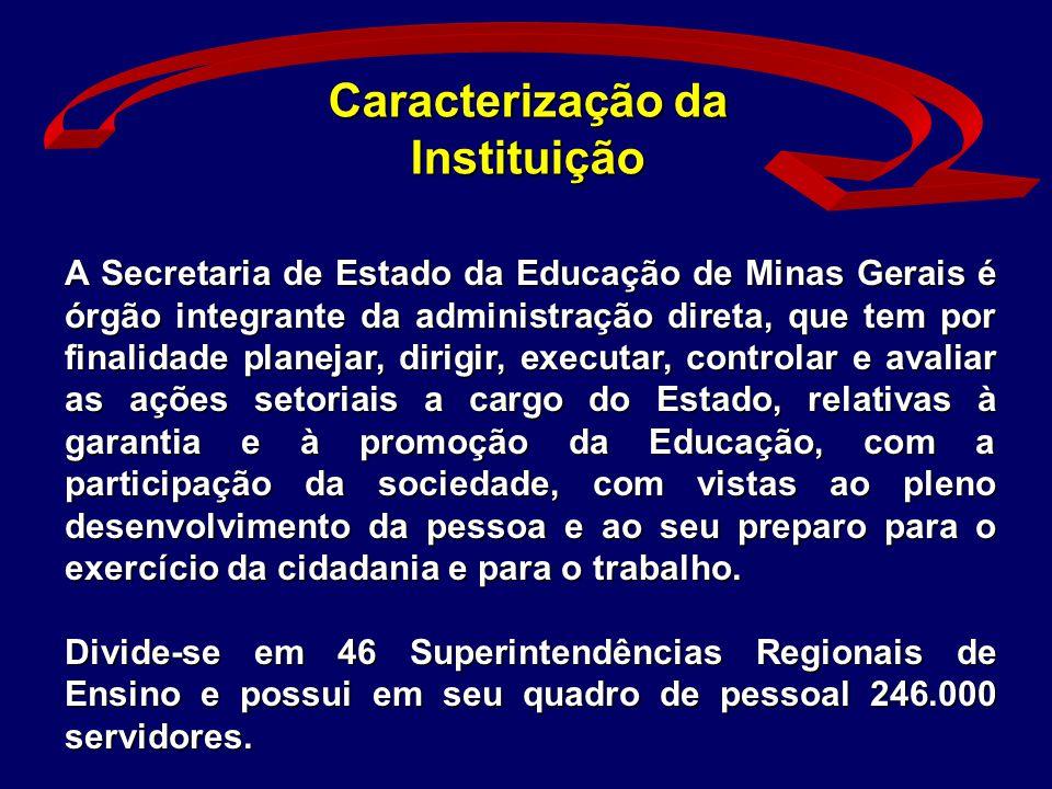 A Secretaria de Estado da Educação de Minas Gerais é órgão integrante da administração direta, que tem por finalidade planejar, dirigir, executar, con