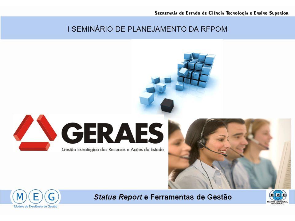 I SEMINÁRIO DE PLANEJAMENTO DA RFPOM Status Report e Ferramentas de Gestão