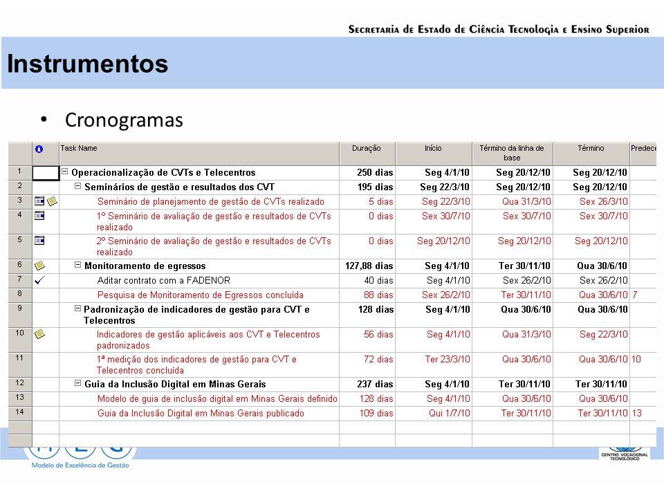 Cronogramas Instrumentos