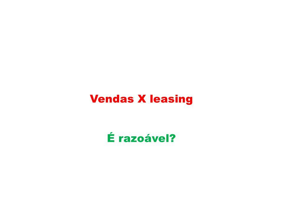 Vendas X leasing É razoável?