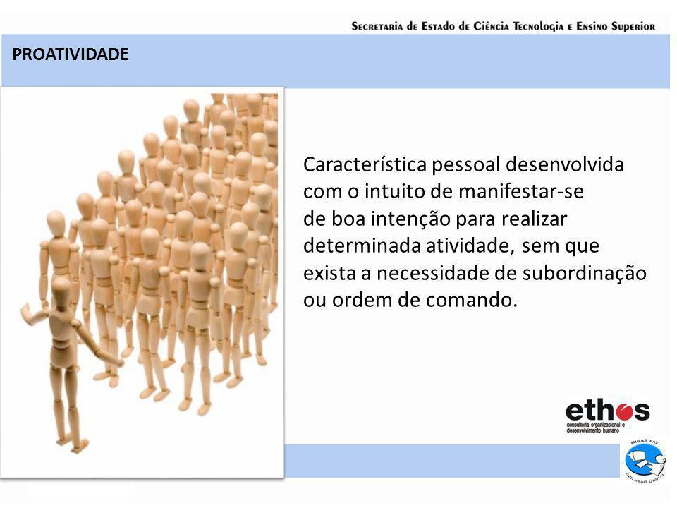 Pessoas proativas são influenciadas por estímulos externos, sejam eles físicos, sociais ou psicológicos.