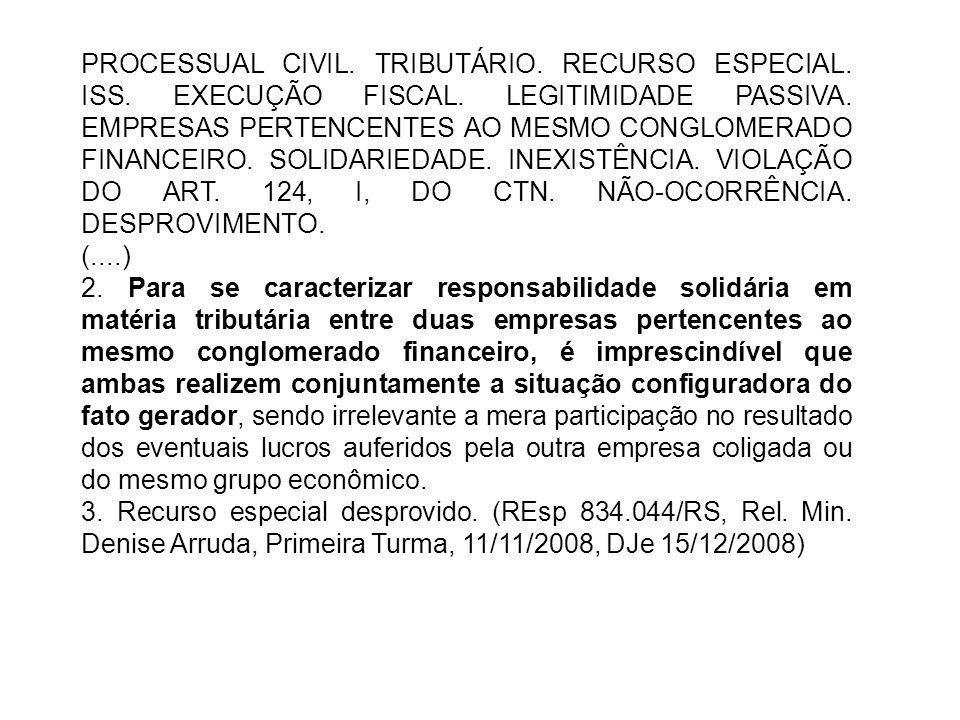 PROCESSUAL CIVIL.TRIBUTÁRIO. RECURSO ESPECIAL. ISS.