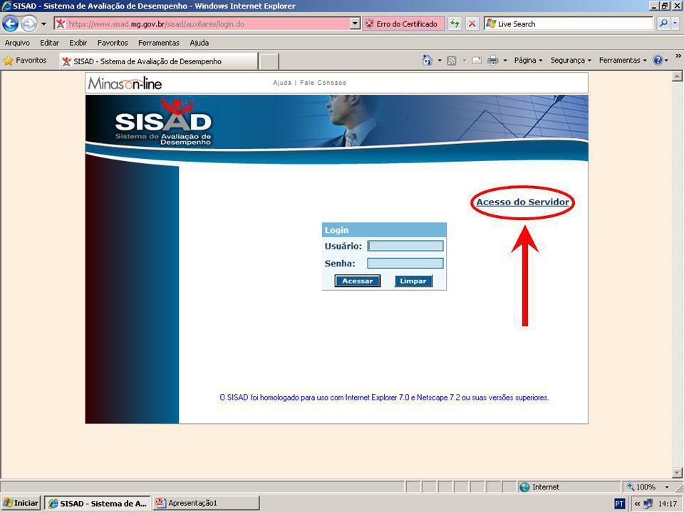 1.3 Preencha o campo MASP: Digite os números com o dígito identificador Passo 01: Acessar o SISAD