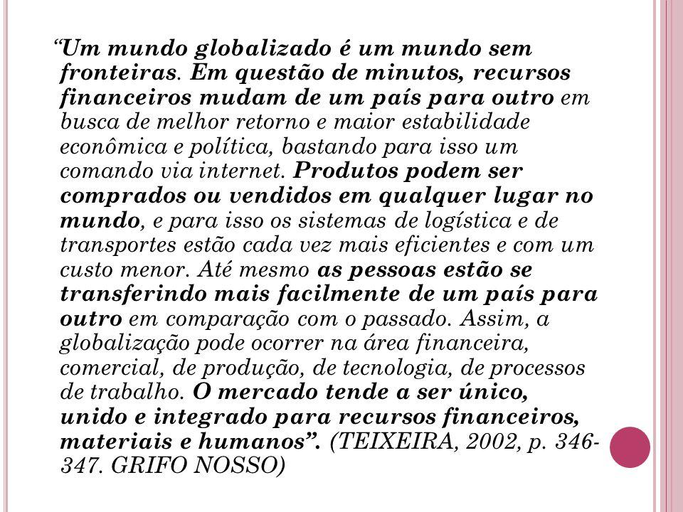 Um mundo globalizado é um mundo sem fronteiras.