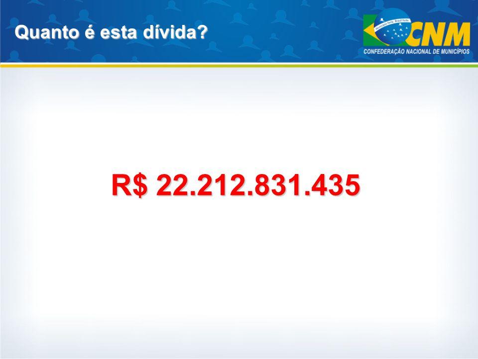 R$ 22.212.831.435 Quanto é esta dívida?