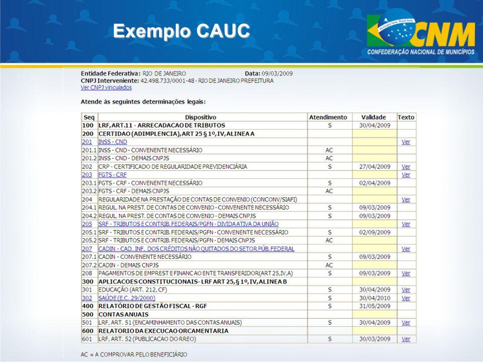 Exemplo CAUC