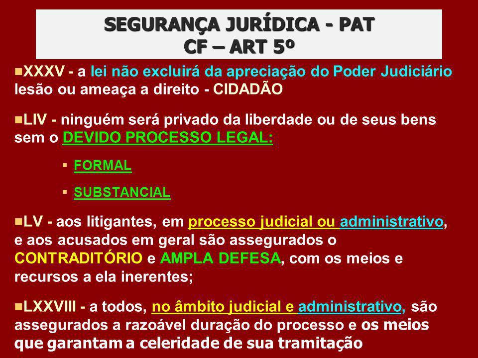 XXXV - a lei não excluirá da apreciação do Poder Judiciário lesão ou ameaça a direito - CIDADÃO LIV - ninguém será privado da liberdade ou de seus ben