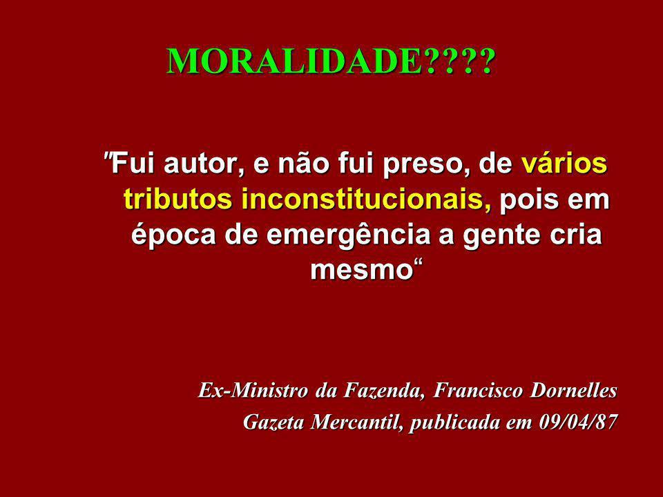 MORALIDADE????