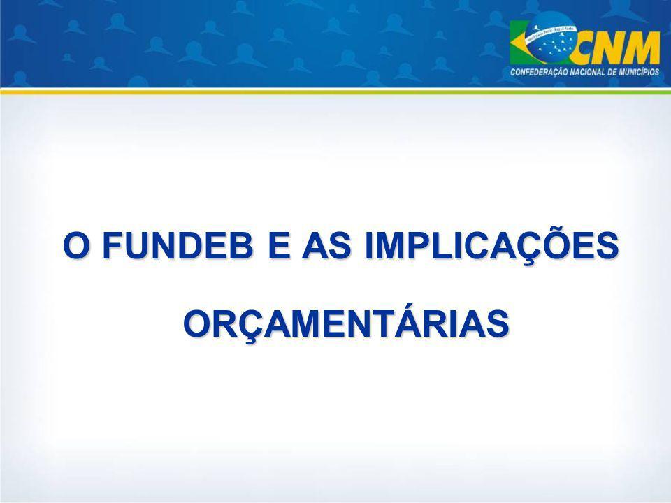 O FUNDEB E AS IMPLICAÇÕES ORÇAMENTÁRIAS ORÇAMENTÁRIAS