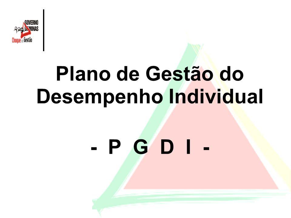 Plano de Gestão do Desempenho Individual - P G D I -