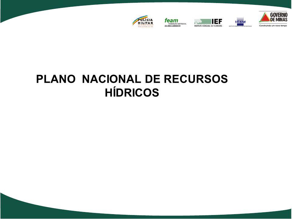 PLANO NACIONAL DE RECURSOS HÍDRICOS