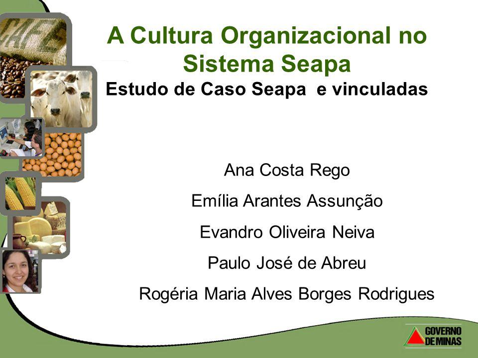 A Cultura Organizacional no Sistema Seapa Estudo de Caso Seapa e vinculadas Ana Costa Rego Emília Arantes Assunção Evandro Oliveira Neiva Paulo José d