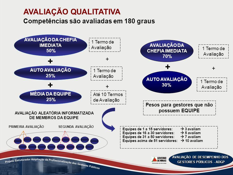 AVALIAÇÃO DE DESEMPENHO DOS GESTORES PÚBLICOS - ADGP GESTÃO DE PESSOAS LIDERANÇA DE EQUIPES VISÃO SISTÊMICA COMPARTILHAMENTO DE INFORMAÇÕES E CONHECIMENTOS COMPETÊNCIA TÉCNICA COMPORTAMENTO INOVADORA ORIENTAÇÃO PARA RESULTADOS Perfil de Competências dos Gestores Públicos