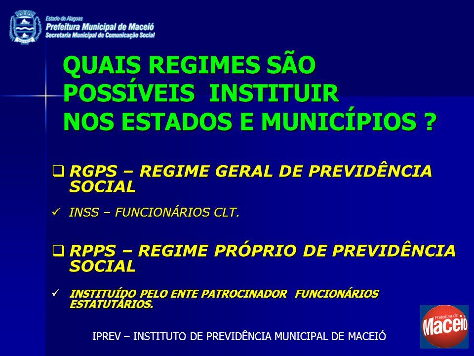 RGPS – REGIME GERAL DE PREVIDÊNCIA SOCIAL RGPS – REGIME GERAL DE PREVIDÊNCIA SOCIAL INSS – FUNCIONÁRIOS CLT. INSS – FUNCIONÁRIOS CLT. RPPS – REGIME PR