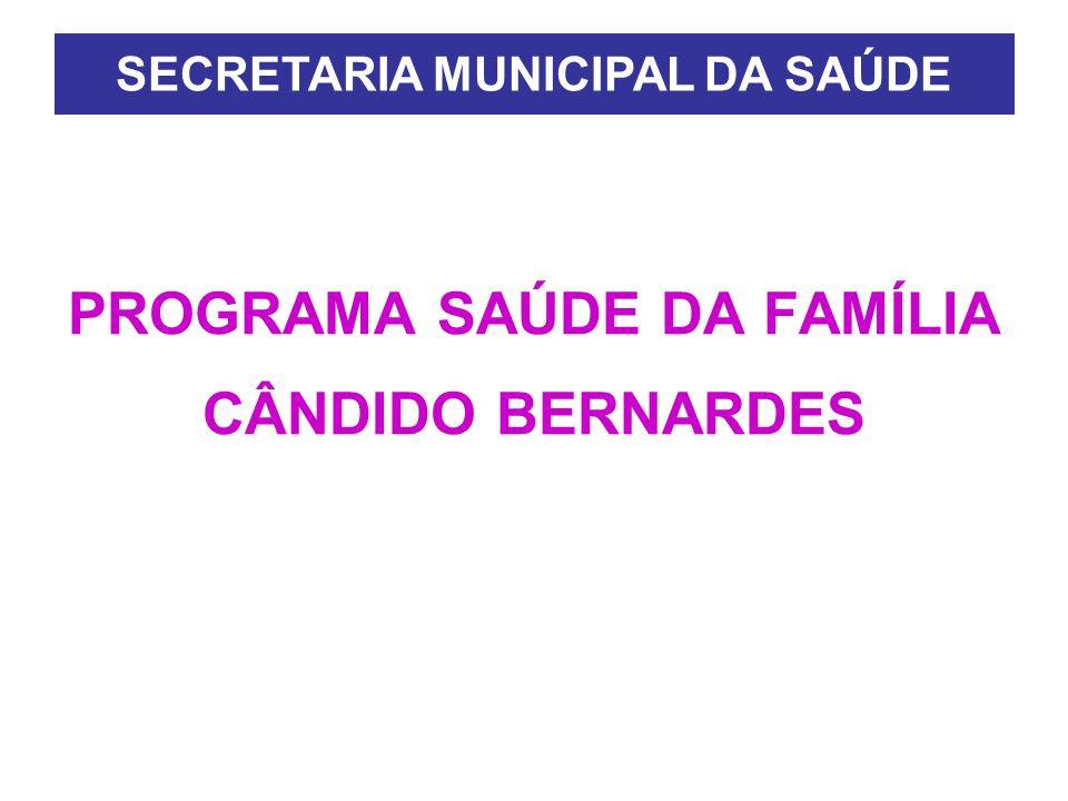 PROGRAMA SAÚDE DA FAMÍLIA CÂNDIDO BERNARDES SECRETARIA MUNICIPAL DA SAÚDE