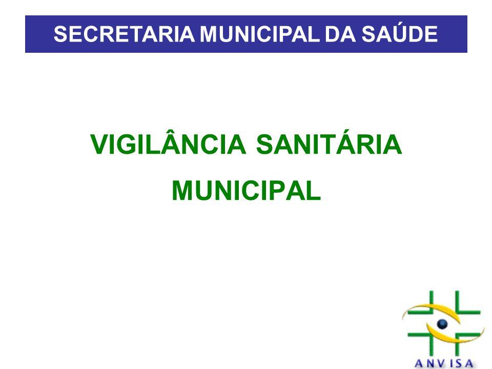 VIGILÂNCIA SANITÁRIA MUNICIPAL SECRETARIA MUNICIPAL DA SAÚDE