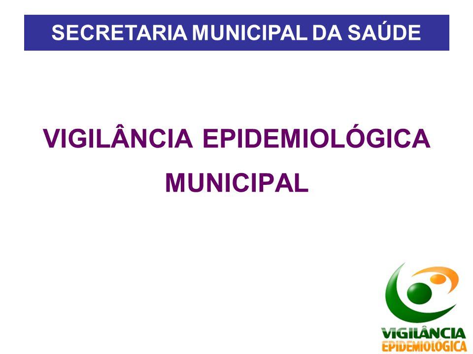 VIGILÂNCIA EPIDEMIOLÓGICA MUNICIPAL SECRETARIA MUNICIPAL DA SAÚDE