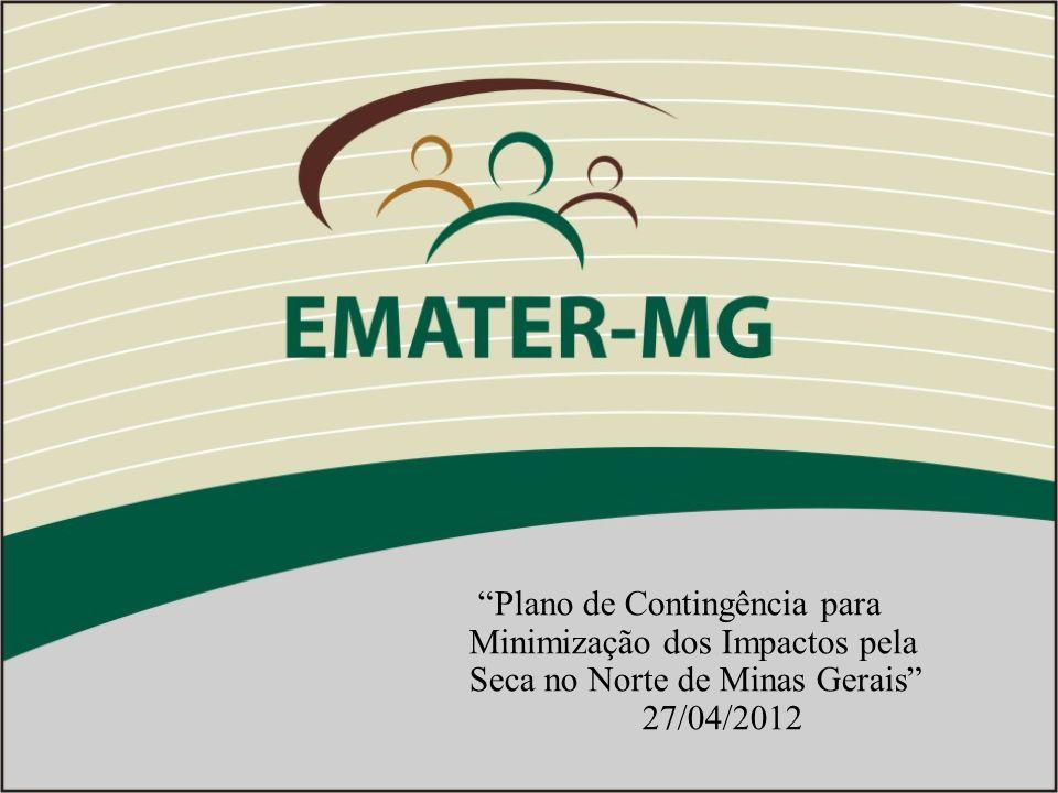 Plano de Contingência para Minimização dos Impactos pela Seca no Norte de Minas Gerais 27/04/2012