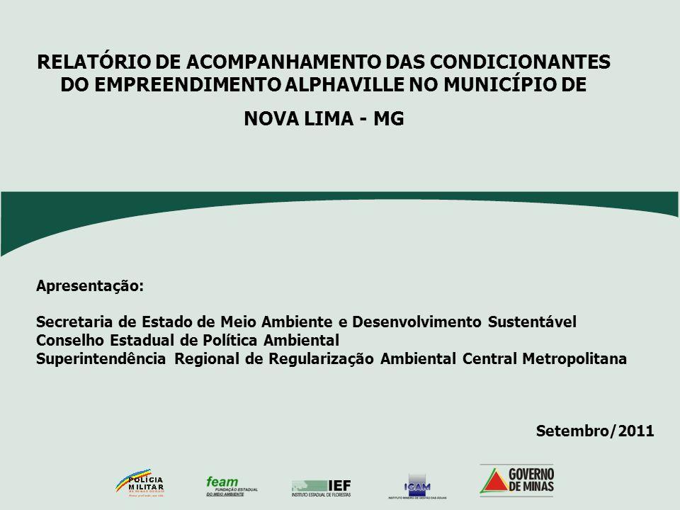 Apresentação: Secretaria de Estado de Meio Ambiente e Desenvolvimento Sustentável Conselho Estadual de Política Ambiental Superintendência Regional de
