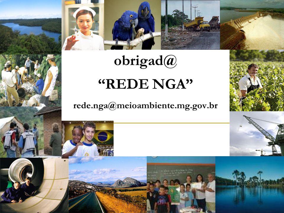 obrigad@ REDE NGA rede.nga@meioambiente.mg.gov.br