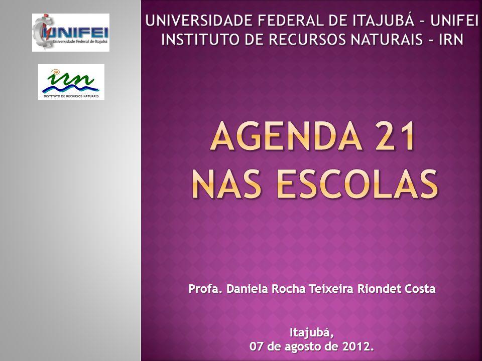 Profa. Daniela Rocha Teixeira Riondet Costa Itajubá, 07 de agosto de 2012.