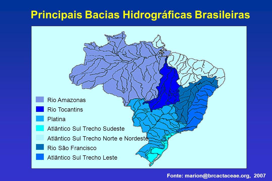 Rio Amazonas Rio Tocantins Platina Atlântico Sul Trecho Sudeste Atlântico Sul Trecho Norte e Nordeste Rio São Francisco Atlântico Sul Trecho Leste Pri