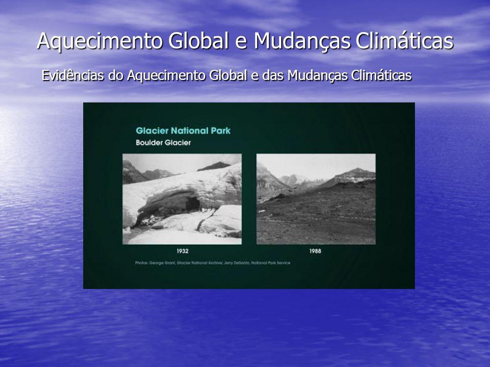 Aquecimento Global e Mudanças Climáticas Evidências do Aquecimento Global e das Mudanças Climáticas