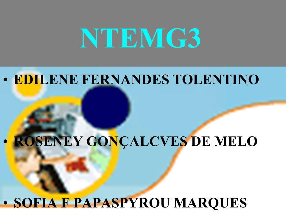 NTEMG3 EDILENE FERNANDES TOLENTINO ROSENEY GONÇALCVES DE MELO SOFIA F PAPASPYROU MARQUES
