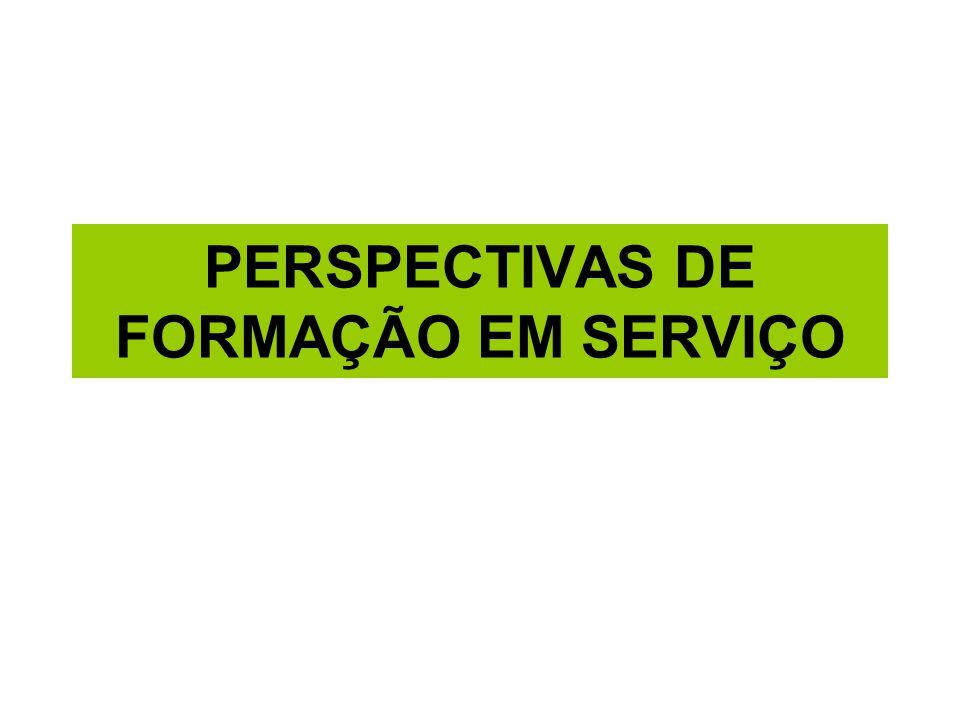 PERSPECTIVAS DE FORMAÇÃO EM SERVIÇO