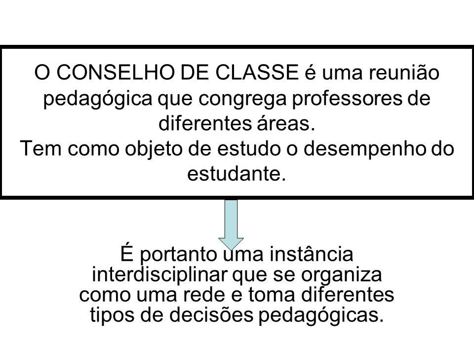 A importância dos Conselhos de Classe reside nas suas possibilidades de congregar diferentes pontos de vista na construção do conhecimento.
