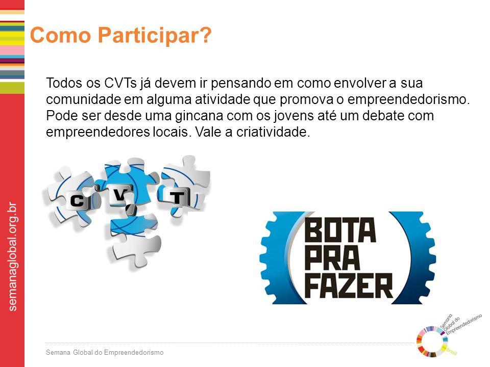 Semana Global do Empreendedorismo semanaglobal.org.br Como Participar.