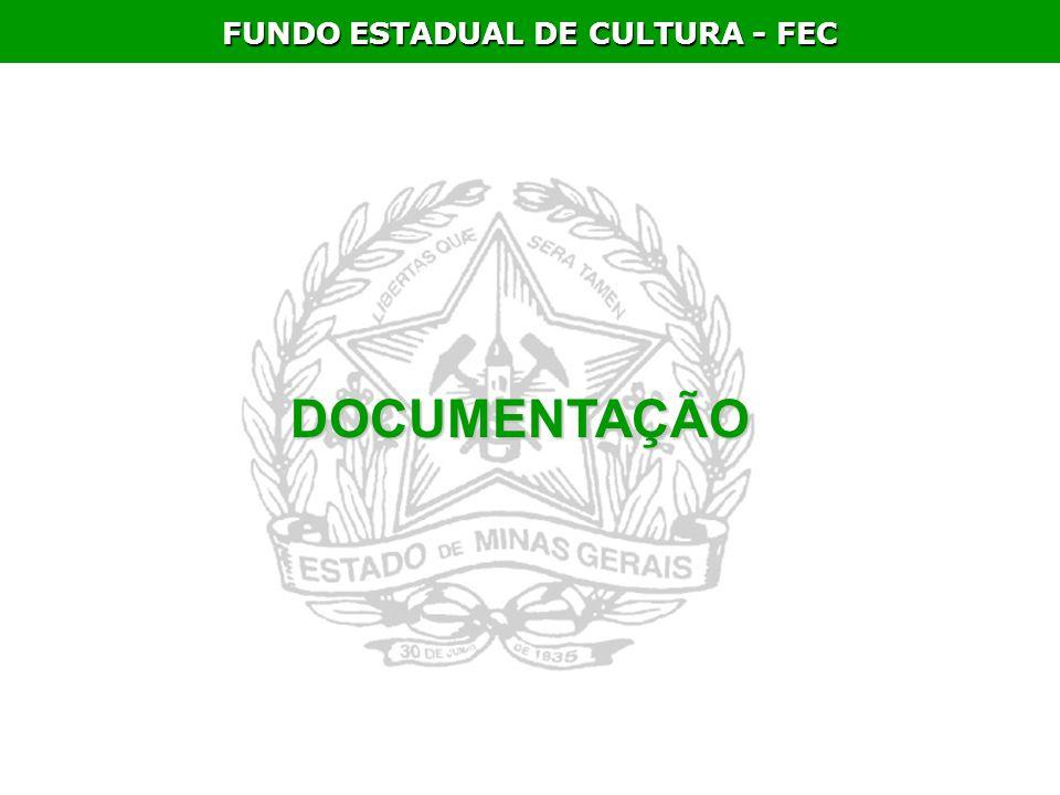 FUNDO ESTADUAL DE CULTURA - FEC DOCUMENTAÇÃO