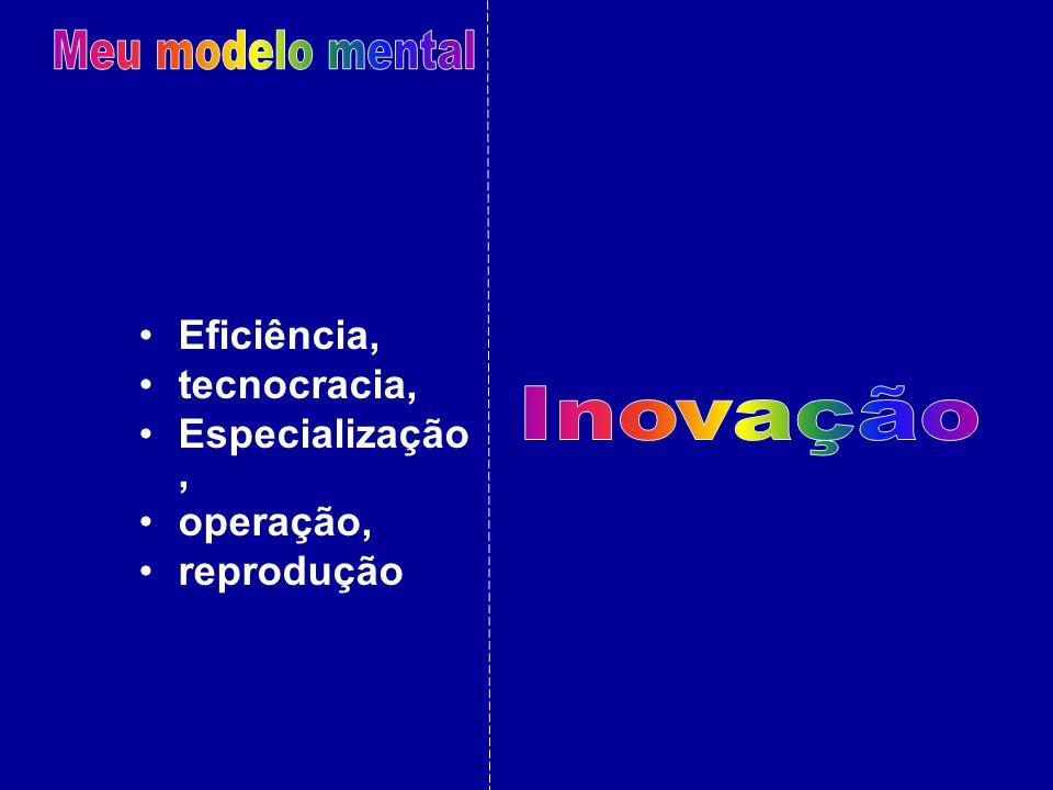 Eficiência, tecnocracia, Especialização, operação, reprodução