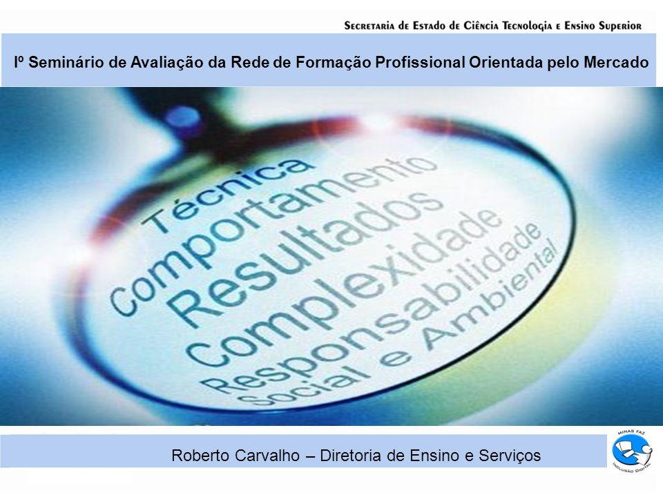 Iº Seminário de Avaliação da Rede de Formação Profissional Orientada pelo Mercado Roberto Carvalho – Diretoria de Ensino e Serviços