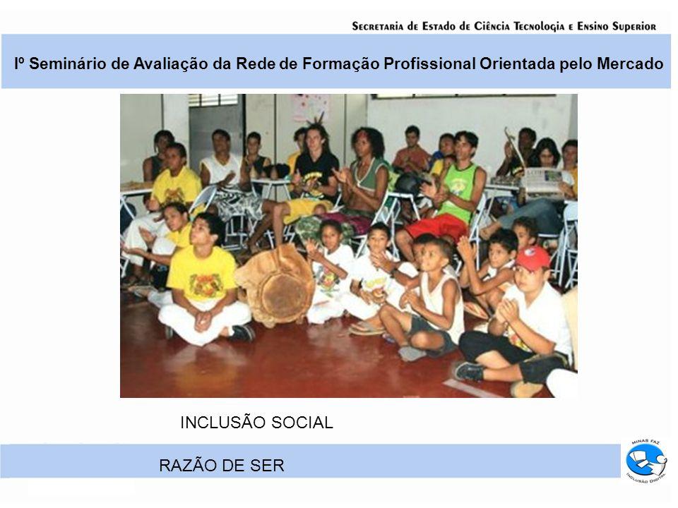 Iº Seminário de Avaliação da Rede de Formação Profissional Orientada pelo Mercado RAZÃO DE SER INCLUSÃO SOCIAL