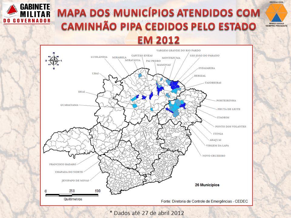 * Dados até 27 de abril 2012