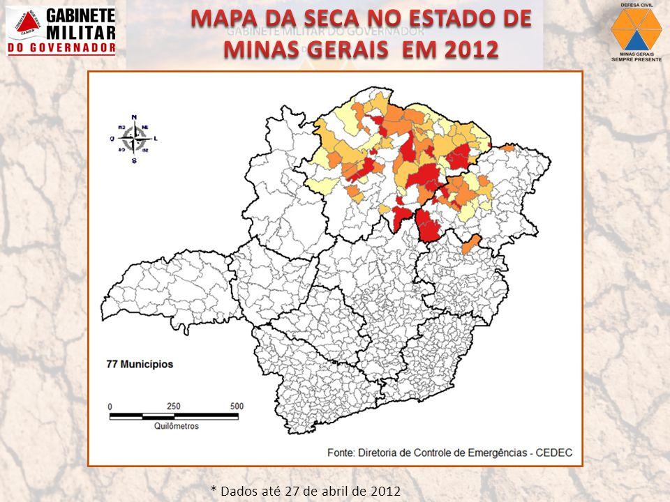 Fonte: Diretoria de Controle de Emergências – CEDEC.