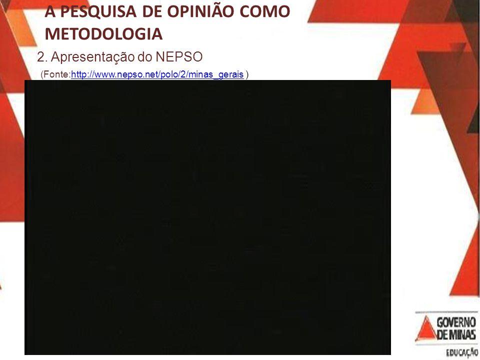 A PESQUISA DE OPINIÃO COMO METODOLOGIA 2.