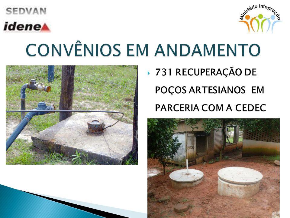 731 RECUPERAÇÃO DE POÇOS ARTESIANOS EM PARCERIA COM A CEDEC