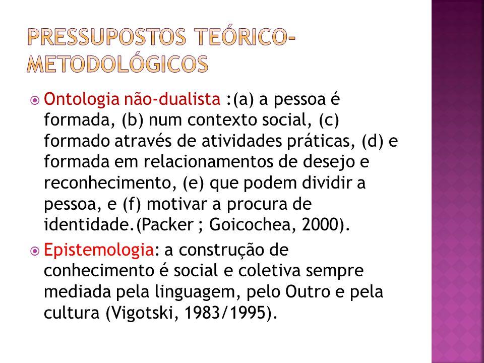 Ontologia não-dualista :(a) a pessoa é formada, (b) num contexto social, (c) formado através de atividades práticas, (d) e formada em relacionamentos