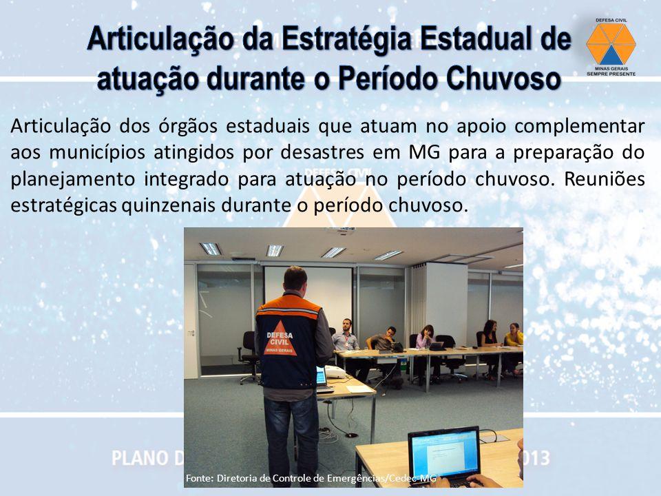 Articulação dos órgãos estaduais que atuam no apoio complementar aos municípios atingidos por desastres em MG para a preparação do planejamento integr