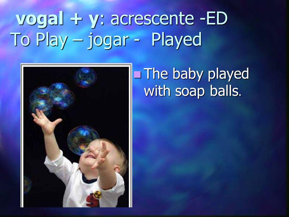 Interrogativa Did + sujeito + verbo no infinitivo + ? To play= brincar Did he play alone?