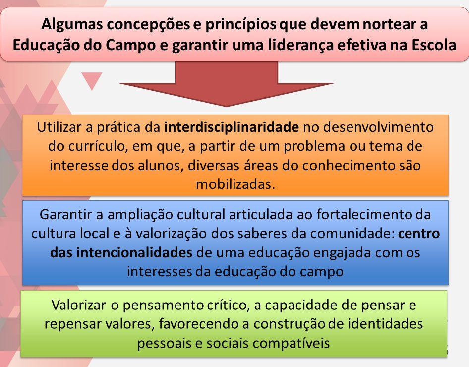 Garantir a ampliação cultural articulada ao fortalecimento da cultura local e à valorização dos saberes da comunidade: centro das intencionalidades de
