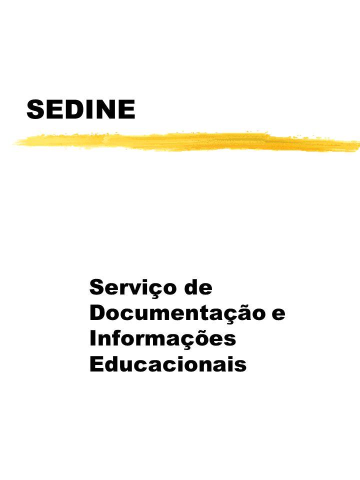SEDINE Serviço de Documentação e Informações Educacionais